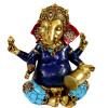 Beautiful Ganesh is the master of unblocking obstacles & blockages for you to move forward.Lovely painted mosiac detail. Approx 22cm high x 20cm wide. Made from resin & mosiac