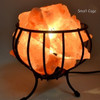 Fire Basket Salt Lamp Approx 25 x 20cm Himalayan Salt Lamps may provide assistance to headaches, insomnia, hay fever, allergies, asthma & bronchitis. They may increase alertness, productivity, strengthen the immune system, improve breathing & reduce colds & flu. They promote peace, rest & relaxation.