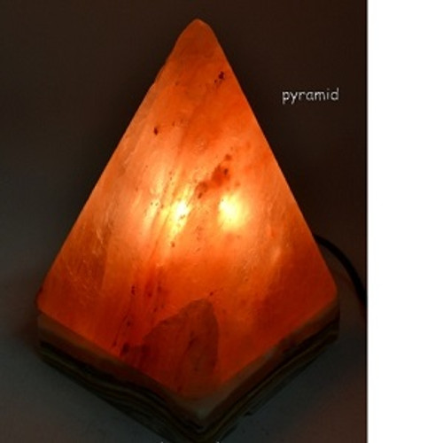 Pyramid Salt Lamp Approx 25 x 20cm Himalayan Salt Lamps may provide assistance to headaches, insomnia, hay fever, allergies, asthma & bronchitis. They may increase alertness, productivity, strengthen the immune system, improve breathing & reduce colds & flu. They promote peace, rest & relaxation.