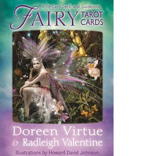 Fairy Tarot Cards Author: Doreen Virtue The fairies are nature angels who assist us all with earthly concerns, including increasing our self-confidence in our ability to make a positive difference in this world. 78 cards with a guidebook.