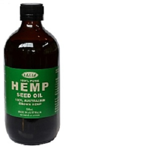 Hemp Seed Oil 200ml 100% Natural, Chemical free. Australian grown, cold pressed, food grade hemp seed oil. Hemp Seed Oil is the most perfectly balanced oil, containing omegas 3, 6 and 9 which is a part of the reason why hemp seed oil is especially effective at repairing and moisturising our skin.  The ESSENTIAL FATTY ACIDS (EFA) are absorbed into our skin cells and replenish damaged lipids and repair damaged skin. Hemp Seed Oil contains some of the highest known levels of essential fatty acids in the plant kingdom. EFAs are essential to the human body for growth and healthy living. The high concentration of EFAs makes hemp seed oil an ideal treatment for dry skin (deficient in EFAs)  Please note: The consumption of Hemp Seed Oil in Australia is currently illegal. Please massage the oil into the skin.