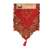 Holiday Collection Christmas Embroidery Fabric Table Runner, 16x70 inch
