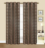 "Dana Faux Silk 55""x84"" Grommet Geometric Embroidery Decorative Window Curtain Panel, Set of 2 Panels"