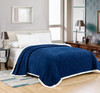 Noble House Elite Soft & Comfortable Sherpa Over-Sized Blanket, Queen, King, Solid Colors