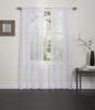 Lisa Sheer Voile Window Curtain Panel - White