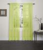 Lisa Sheer Voile Window Curtain Panel - Lime