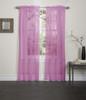 Lisa Sheer Voile Window Curtain Panel - Hot Pink