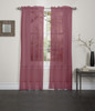 Lisa Sheer Voile Window Curtain Panel - Rust