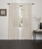 Lisa Sheer Voile Window Curtain Panel Mocha
