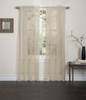 Lisa Sheer Voile Window Curtain Panel Taupe