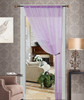 Thread String Curtain Panel, Fringe Panel Blind Room Divider - Purple