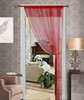 Thread String Curtain Panel, Fringe Panel Blind Room Divider - Ruby