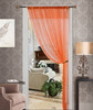 Thread String Curtain Panel, Fringe Panel Blind Room Divider - Orange