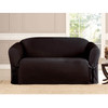Black Microsuede Slipcover Loveseat