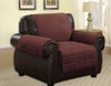 Quilted Microfiber Pet Dog Couch Furniture Protector Brown - Chair