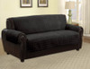 Quilted Microfiber Pet Dog Couch Furniture Protector Black - Sofa