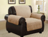 Quilted Microfiber Pet Dog Couch Furniture Protector Camel - Chair