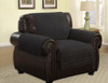 Quilted Microfiber Pet Dog Couch Furniture Protector Black - Chair