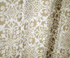 "Linen Store Fabric Canvas Shower Curtain, 70""x70"", Lori, Floral Scroll Geometric Design (LS-SC028062)"