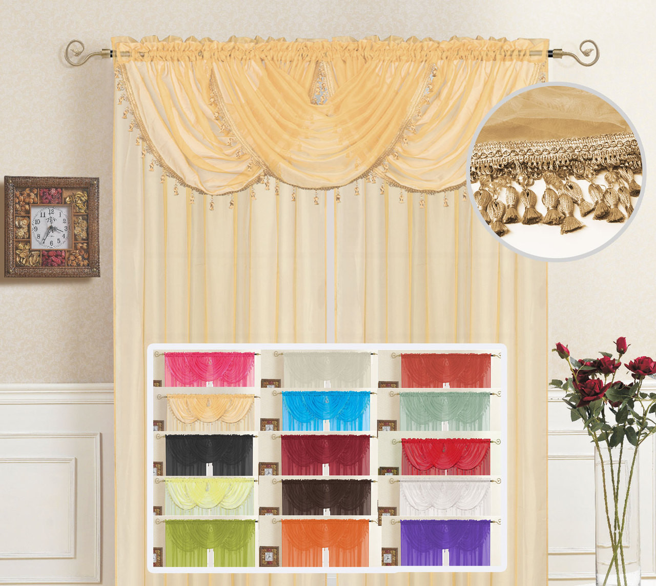 Kashi Home Lisa 36'' Curtain Valance 605622705542