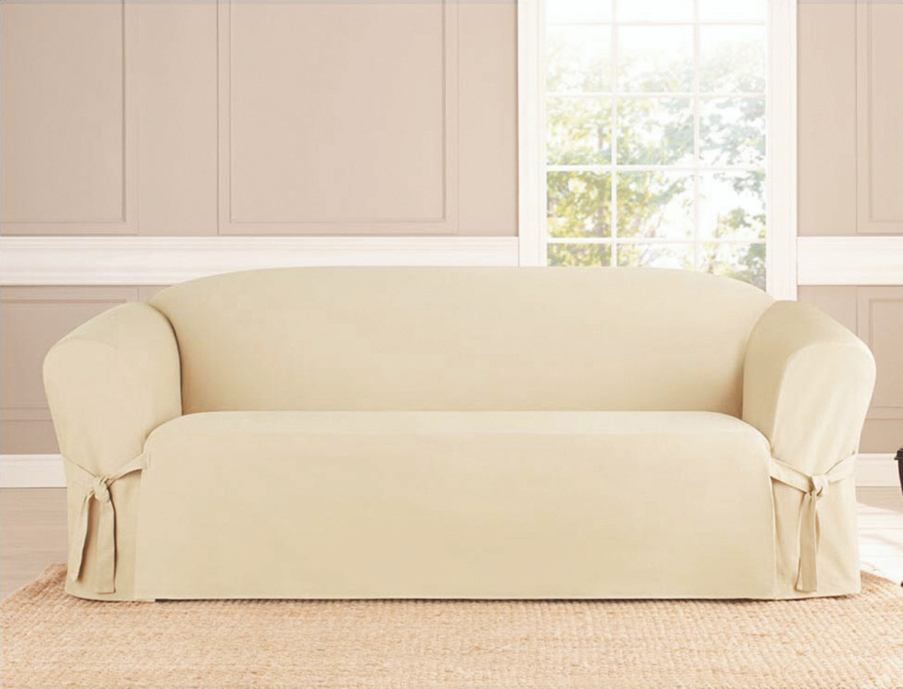 Kashi Home MicroSuede Sofa Slipcover Beige Black Brown Ruby