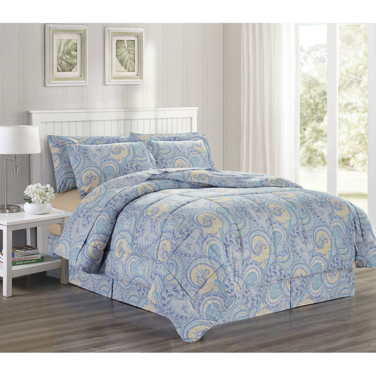 com a walmart white ip set soft ruffle size comforter queen oversized bedding tufted odessa in piece bed bag