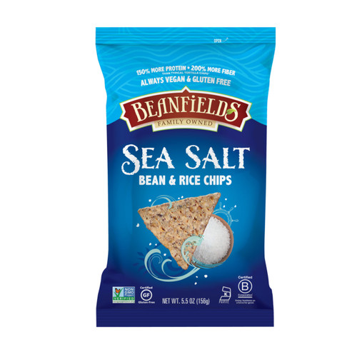 Beanfields Bean and Rice Chips, Sea Salt, 5.5 Ounce (Pack of 6)