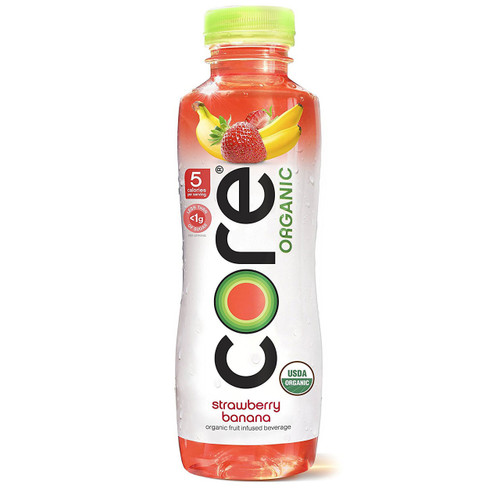 Core Organic Fruit Infused Beverage, Strawberry Banana, 18 Ounce (Pack of 12)