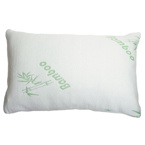 """Shredded Memory Foam Pillow, Hypo-Allergenic Removable Bamboo Cover, Queen 