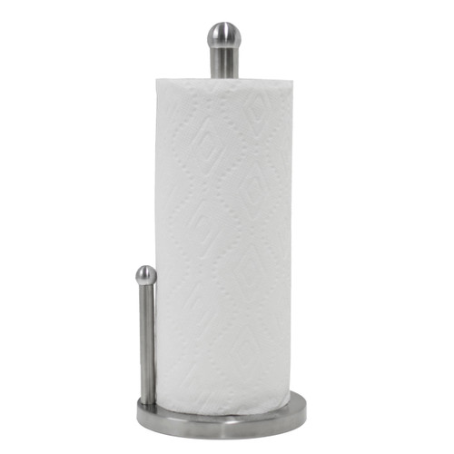 Double Pole Stainless Steel Paper Towel Holder With Anti Slip Pad Base PH029861