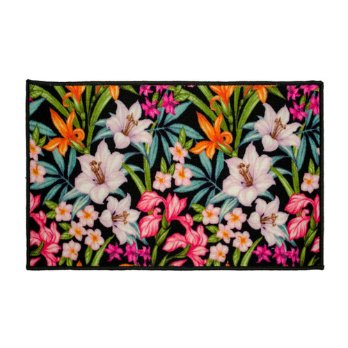 Kashi Home Floral Garden Egyptian Decor Accent Area Rug, Floor Mat