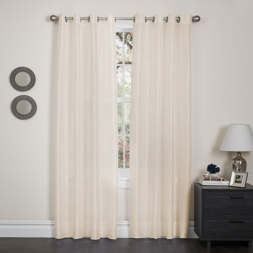 Holly Faux Silk Window Curtain Panel, 57x90, 1 Pack