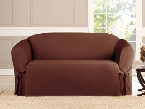 Micro Suede Slipcover Brown