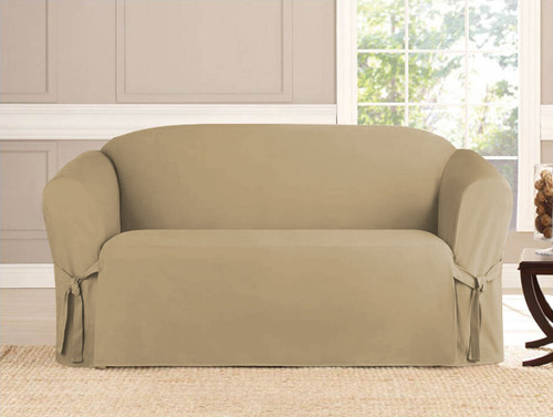 2-Piece Micro-Suede Furniture Slipcover Set (Loveseat & Sofa) - 4 Colors