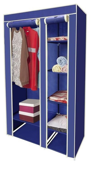 "Navy Blue 40"" Portable Closet"