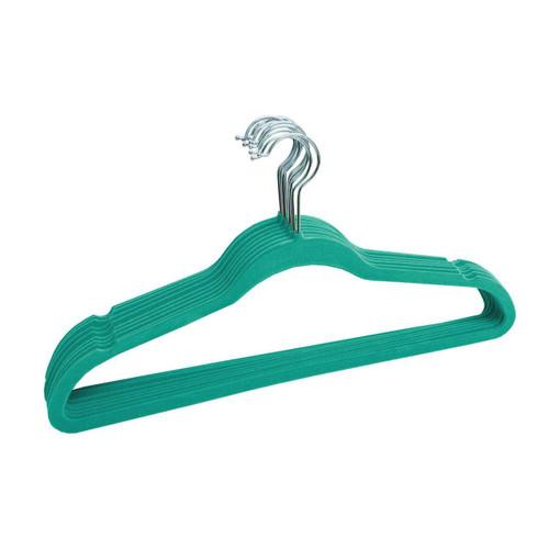 Turquoise Slim Velvet Hangers