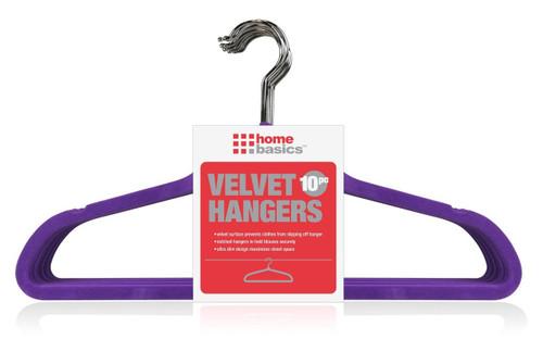 Purple Slim Velvet Hangers