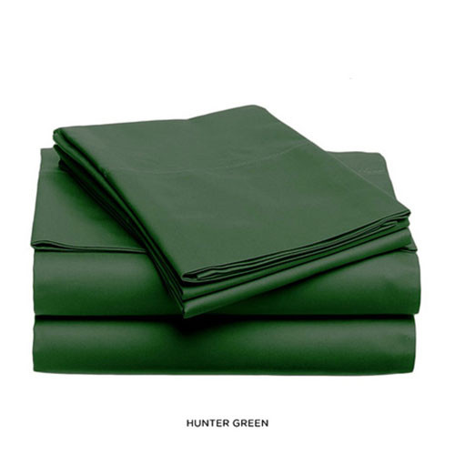 ... Soft And Light Solid Color Bed Sheet Set   Hunter Green ...