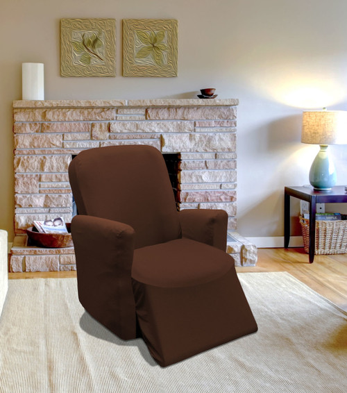 Kashi Home Jersey Recliner Slipcover -  Brown