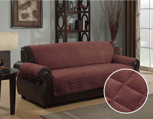 Micro-Suede Furniture Pet Dog Couch Protector Brown - 3 Sizes