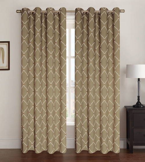 2 Pack Celine Window Panel - Taupe