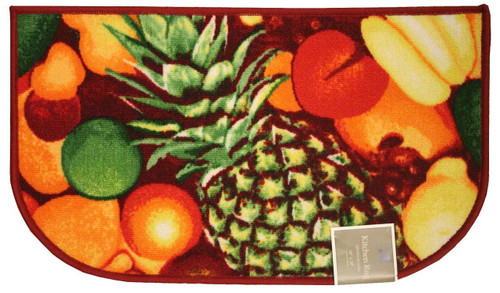 "D-Shape Latex Back Pineapple Kitchen Rug, Area Rug, Mat, Carpet – 18""x30"""