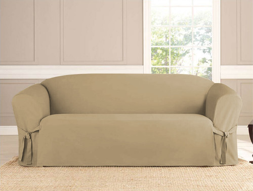 ... Kashi Home Micro Suede Sofa Slipcover   Taupe ...