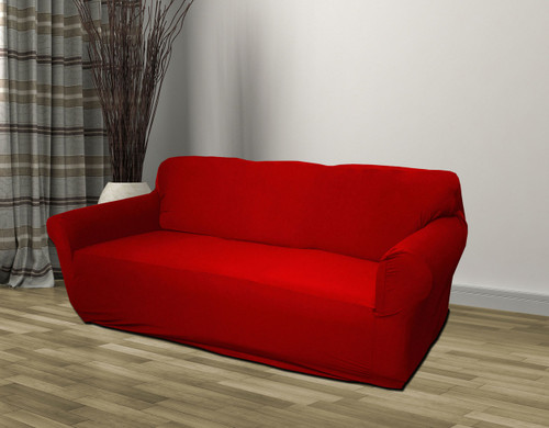 Kashi Home Jersey Slipcover Red   Sofa