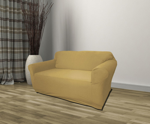 Kashi Home Jersey Slipcover Tan - Loveseat