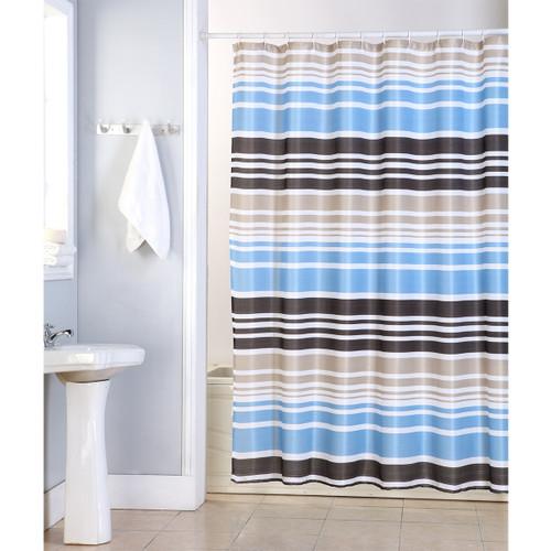 Charlie Shower Curtain, 70x70, Stripes Printed Design