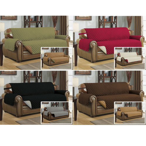 Reversible Quilted Microfiber Pet Dog Couch Sofa Furniture