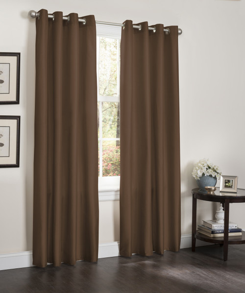 "Blackout Window Curtain Panel, 54"" X 84"", Faux Silk Thermal Insulated Grommet Top, Erin, 1 Panel"