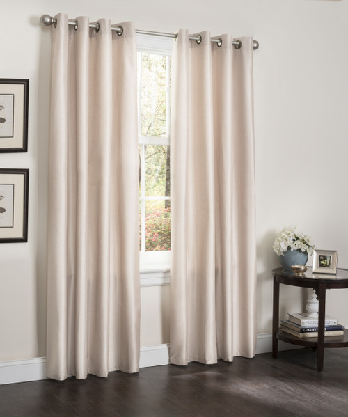 "Blackout Window Curtain Panel, 54"" X 90"", Faux Silk Thermal Insulated Grommet Top, Erin, 1 Panel"