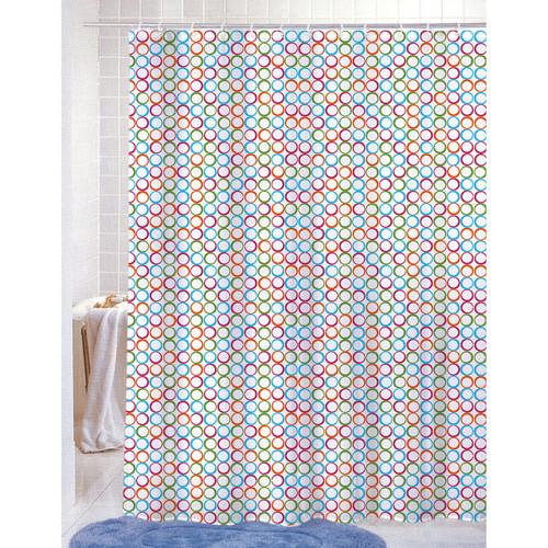 Printed Shower Curtain PVC Free (PEVA) Colorful Geometric Circles ...